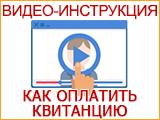 Видеоинструкция по оплате квитанции